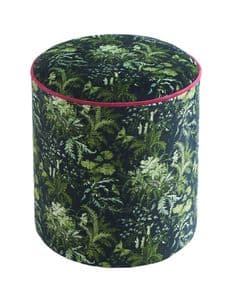 Boho&Co Arcadian Woods Green velvet drum stool